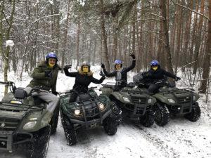 Quad túra barátokkal télen